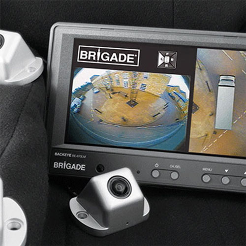 Brigade Backeye 360 Camera Kit provides 360 degree view of vehicle for operator