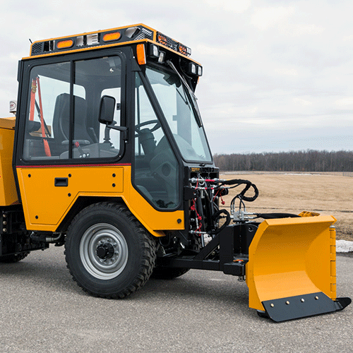 Trackless 5-Position Folding V-Plow Municipal Tractor