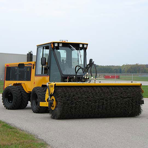 Trackless Power Angle Sweeper Accessory for Municipal Tractor