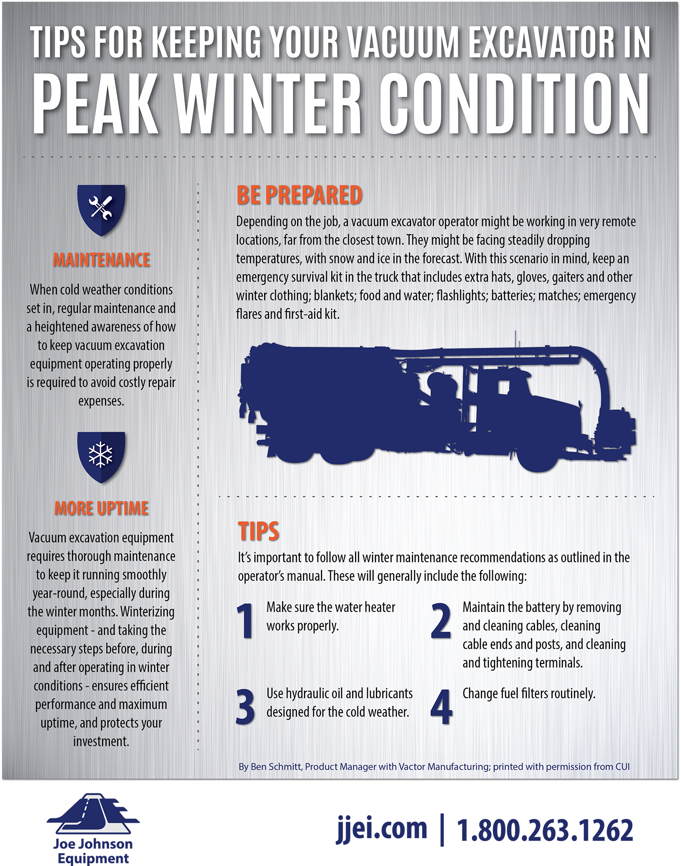 Keep Vacuum Excavator In Peak Winter Condition Infographic