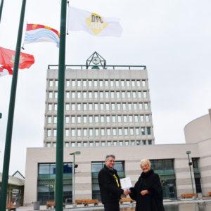 DigSafe Flag Raising Ceremony 2018