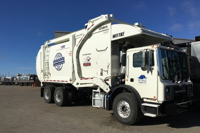 Joe Johnson Wittke garbage truck